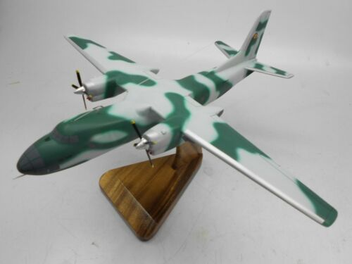 An30 Clank Romania Air Force Airplane Mahogany Kiln Dry Wood Model Large New