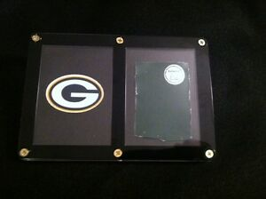 Green-Bay-Packers-GAME-USED-PIECE-of-METAL-from-Ring-of-Honor-at-Lambeau-RARE