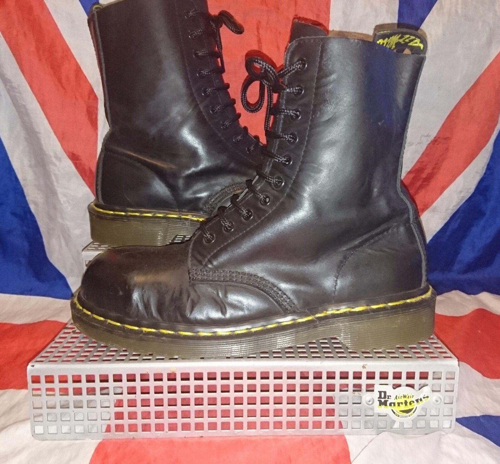 Zapatos especiales con descuento England Vintage*10 Eyelet Steel Toe Dr Doc Martens*Grunge Skingirl Punk Goth*6