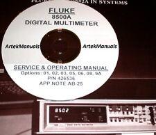 FLUKE 8500A Ops/Service Manual + App Note & Options (2)