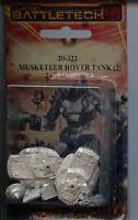 Battletech Musketeer Hover Tank (2) Mint Iron Wind Metals