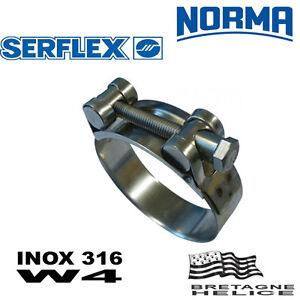 Collier A Tourillon 130 - 140 Mm Renforce 30 Mm Inox W4 Grande Pression Norma