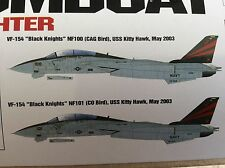 Grumman F-14A Bombcat Us Navy Strike Fighter 1:48 Kit Inc armas