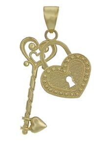 14k-Yellow-Gold-Solid-Heart-Locket-with-Key-Charm-Pendant-1-2g