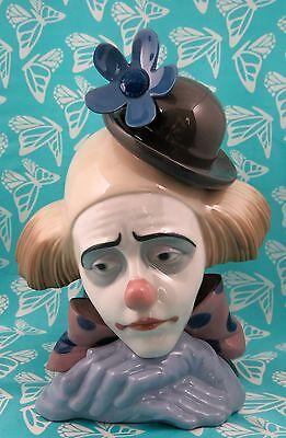Lladro # 5130 ~ CLOWN HEAD BOWLER HAT ~ AKA Pensive Clown   BUY 1 GET 1 50% OFF