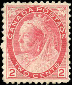 1899-Mint-H-Canada-F-VF-Scott-77-2c-Queen-Victoria-Numeral-Issue-Stamp
