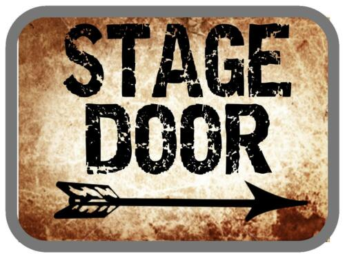 Stage Door Reproduction vintage retro Sign Vintage Theater Theatre Sign