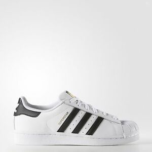 Image is loading ADIDAS-WOMEN-039-S-SUPERSTAR-WHITE-BLACK-GOLD-