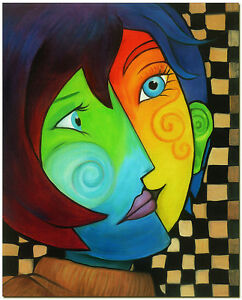 pablo picasso art hand painted cubist woman oil painting on canvas