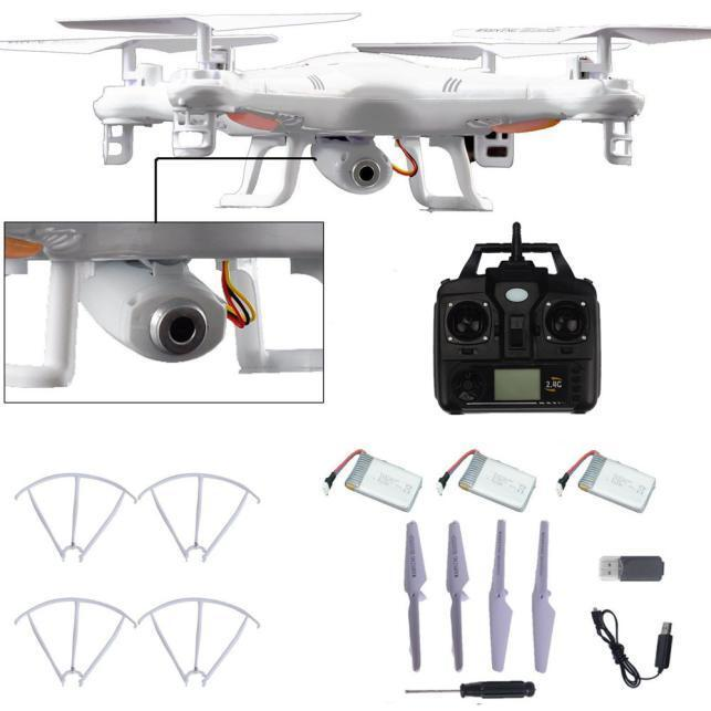 X5C-1 2.4GHz 4CH 6 Axis RC Quadcopter Drone RTF With HD Camera + 2PC Battery