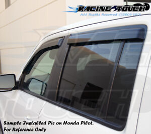 4pc Visor Rain Guards Wind Deflector For Nissan Xterra 2005 2006 2007-2016 05-16