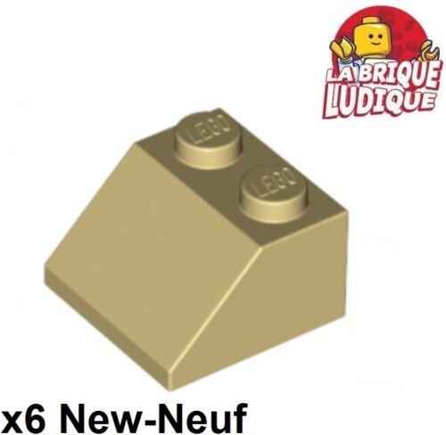 6x slope brique pente inclinée toit roof 45° 2x2 beige//tan 3039 NEUF Lego
