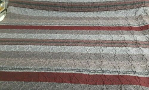 FIGURED AND STRIPED POLY-COTTON FABRIC SOLD BY THE METRE