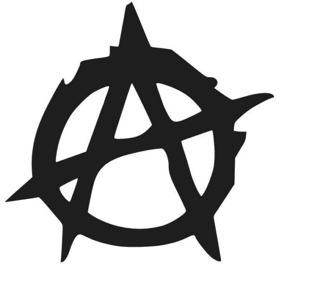 ANARCHY VINILO PEGATINA VINYL STICKER DECAL AUFKLEBER AUTOCOLLANT ADESIVI