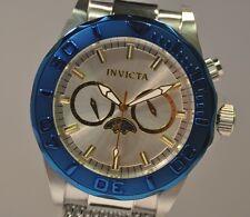 New Mens Invicta 80318 Sea Wizard Mesh Bracelet  Blue Tone Bezel Watch