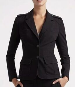 Diane-von-Furstenberg-DvF-Size-8-Black-Fitted-Blazer-Career