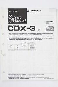 PIONEER-CDX-3-Original-CD-Player-ADDITIONAL-Service-Manual-Schaltplan-Diagram-98