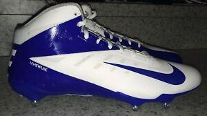 208bf3a7b NIKE Vapor Talon Elite 3 4 D Detachable Football Cleats White Blue ...