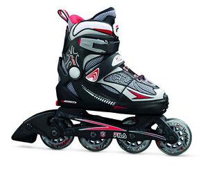 Fila X-One Black-Red Kinder  Inline Skates Gr. S (29-32) größenverstell<wbr/>bar-Sale