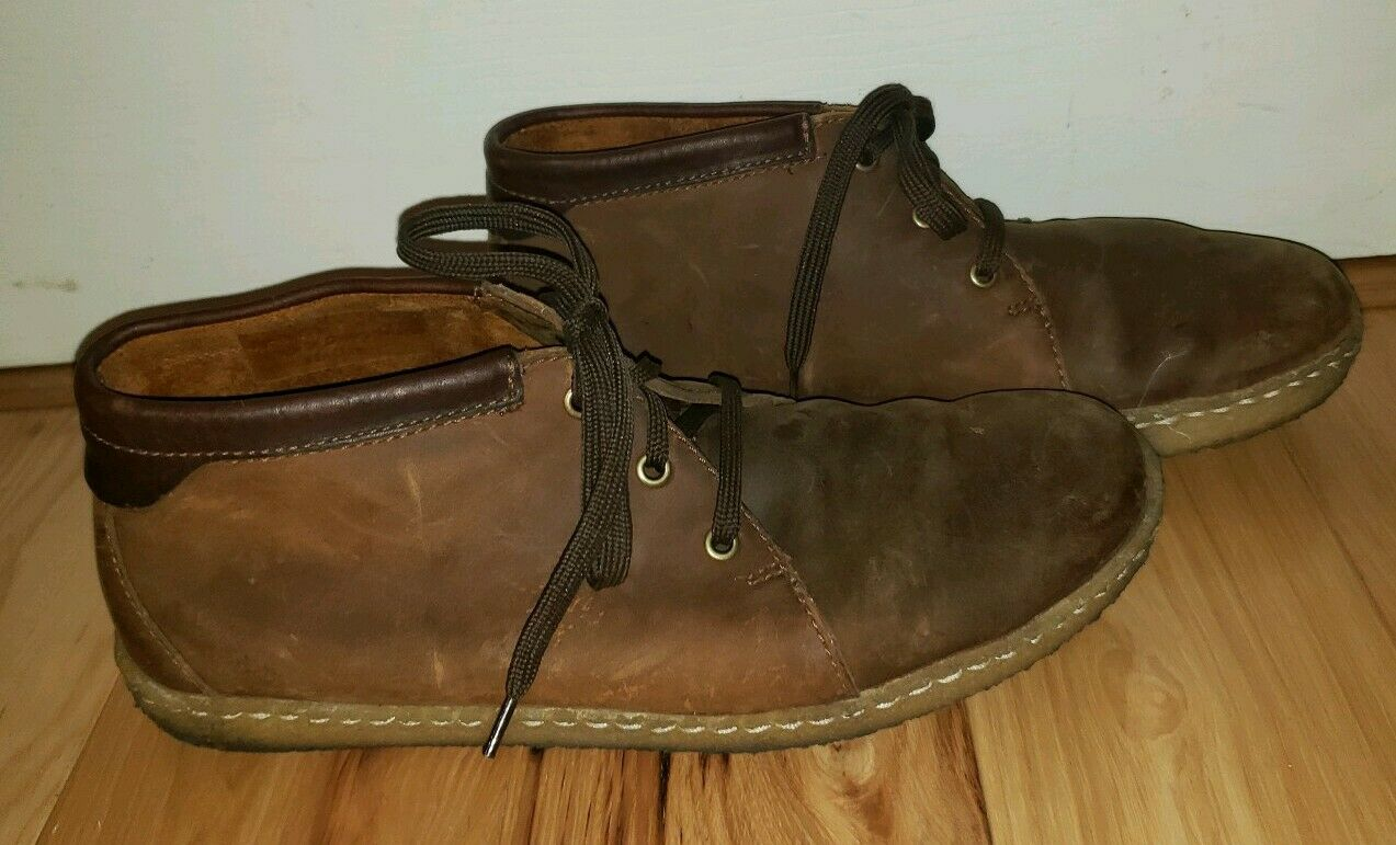 Clarks Originals Crepe shoes leather distressed Brown Lace Up Oxfords Men's 10.5
