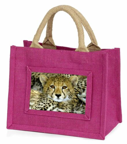 AT-18lymBMP Baby Cheetah /'Love You Mum/' Little Girls Small Pink Shopping Bag Ch