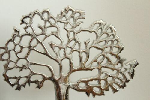 New Home Decor Metal Arbre sur socle en bois Ornement Cadeau