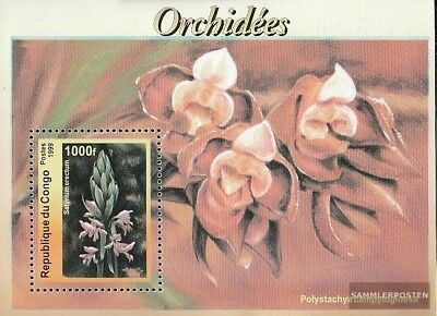 brazzaville Block137 Unmounted Mint 2019 Latest Design Kongo Never Hinged 1999 Orchids