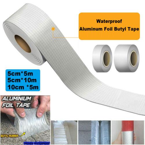 Super Strong Waterproof Tape Butyl Seal Rubber Aluminum Foil Tape 50mm x 5m Hot