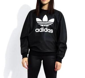 167b7b4e7a8ce Details about LARGE adidas Women's WET LOOK TREFOIL SWEATSHIRT & 3-STRIPES  TONAL TIGHTS 1AVL