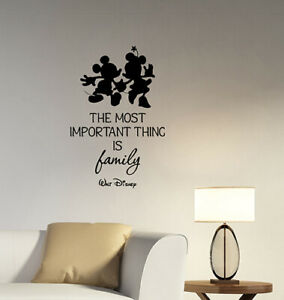 Details about Walt Disney Family Inspirational Quote Wall Decal Vinyl  Sticker Art Decor hq59