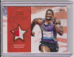 RARE 2012 TOPPS OLYMPIC DAVID OLIVER BRONZE RELIC CARD ~ 61/75 ~ TRACK & FIELD