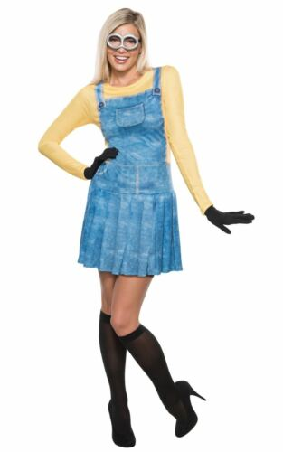Ladies Minion Costume Despicable Me Movie Cartoon Fancy Dress Adult Outfit
