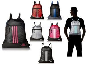 Image is loading adidas-Alliance-Sack-Pack-Drawstring-Gym-Bags-Unisex- a4e7ce6c9a7eb