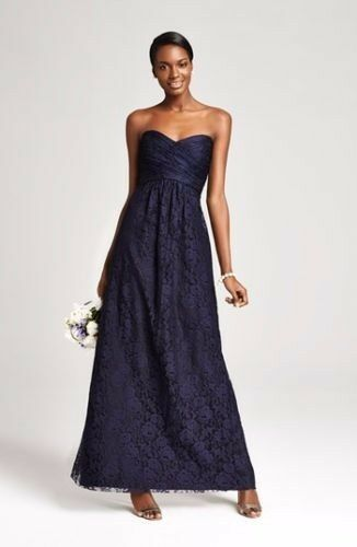 NWT AMSALE Strapless Strapless Strapless Pleated Lace Sweetheart RAISIN Gown. size 0. MSRP  360 5cb210