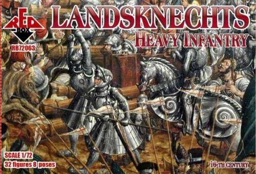 16th century Neu Heavy infantry Red Box RB72063-1:72 Landsknechts