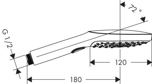 Hansgrohe Handbrause Picta SELECT E 120 3JET 26880000 Brausekopf Duschkopf