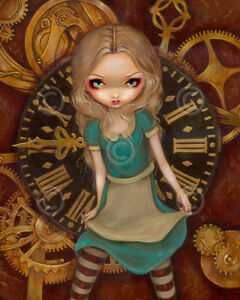 Alice-and-Clockworks-by-Jasmine-Becket-Griffith-Art-Print-Gothic-Poster-Fantasy