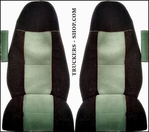 VOLVO-FH4-TRUCK-SEAT-COVERS-GREEN-BLACK-TRUCK-PARTS-amp-ACCESSORIES