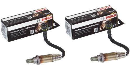 2PC BMW O2 Oxygen Sensor Set FRONT//UPSTREAM Genuine Bosch w// OEM Plug E46//M54 02
