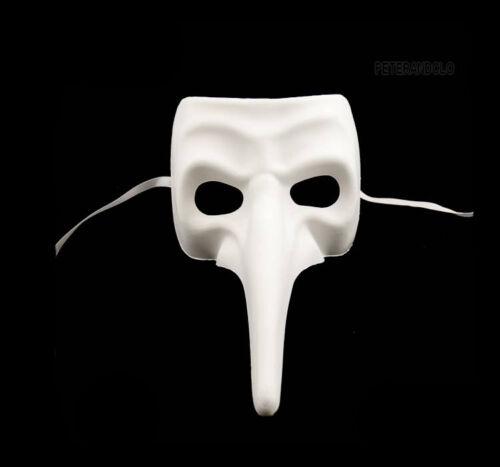 Masque de Venise Blanc à Peindre Nasone Authentique Carnaval Venitien  107