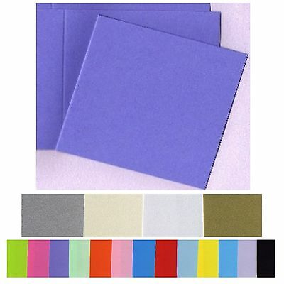 120mm Square Invitation Cards 20 Bifold Smooth Flat and Metallic variations