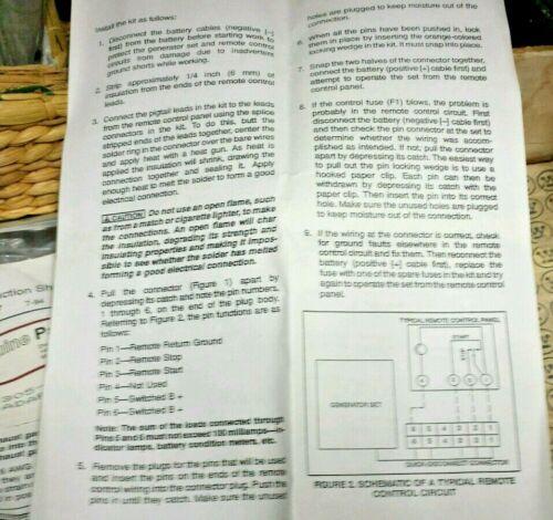 QTY-5 305-0923 ONAN REMOTE ADAPTER KIT 5 pc LOT