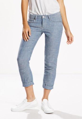 Levi/'s ~ Boyfriend Skinny Women/'s Crop Jeans $54 NWT