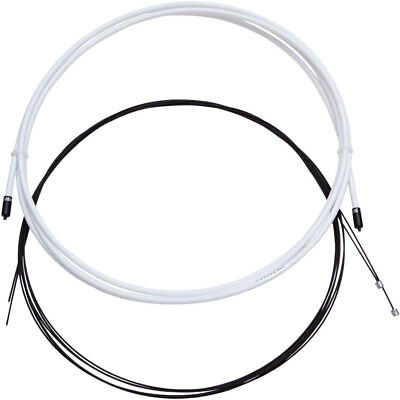 Front /& Rear White SRAM SlickWire Pro Road//MTB Shifter Cable Kit 1.2mm