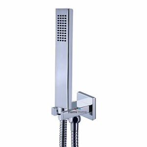 Brass Square Chrome Hand Held Shower Head With Wall ...