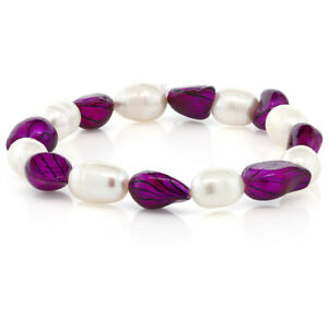 Multi-Color-Cultured-Freshwater-Pearl-Stretchy-Bracelet
