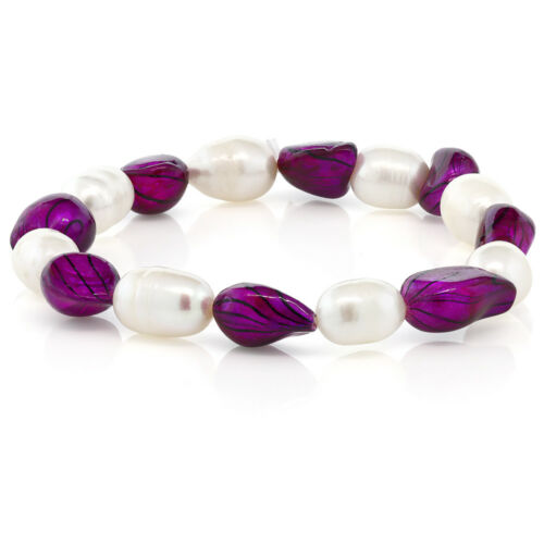 Multi-Color Cultured Freshwater Pearl Stretchy Bracelet