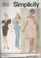 Vintage Pattern:  Simplicity 7678, elegant 2-piece dress, size 6-10 (Gr. 32-36)