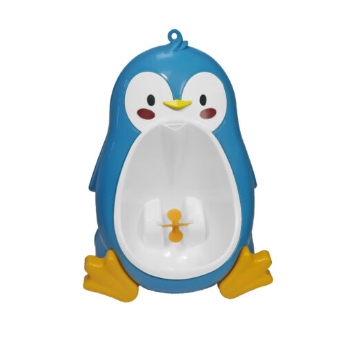 Baby Potty Boy Training Urinal Blue Penguin Fun Toddler Toilet Trainer