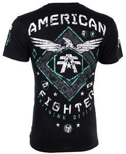 AMERICAN-FIGHTER-Mens-T-Shirt-ABRAHAM-Eagle-BLACK-Athletic-Biker-Gym-MMA-UFC-40